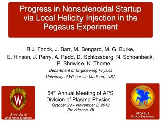 Progress in  Nonsolenoidal Startup  via Local Helicity Injection in the Pegasus Experiment