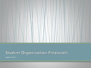 Student Organization Financials