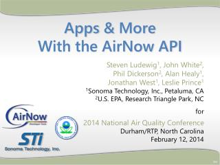 Apps  &  More  With the  AirNow API