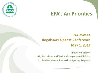 EPA�s Air Priorities