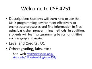 Welcome to CSE 4251