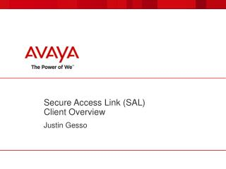 Secure Access Link (SAL) Client Overview