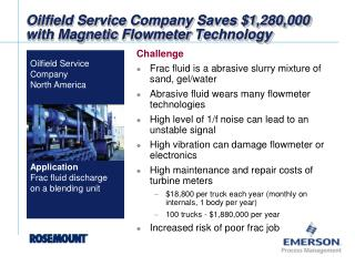 Oilfield Service Company Saves $1,280,000 with Magnetic  Flowmeter  Technology