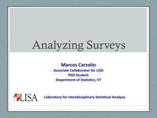 Analyzing Surveys