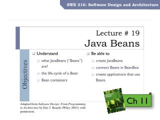 Lecture # 19 Java Beans