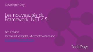 Les nouveautés du Framework .NET 4.5