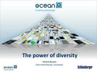 Horacio Bouzas Ocean Portfolio Manager , Schlumberger