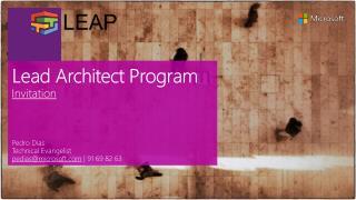 Lead Architect Program