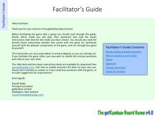 Facilitator's  Guide