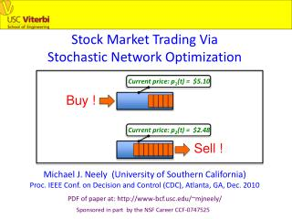 Stock Market Trading Via  Stochastic Network Optimization