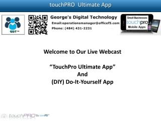 touchPRO  Ultimate App