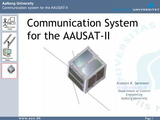 Communication System for the AAUSAT-II
