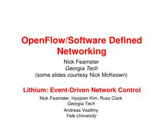 Lithium: Event-Driven Network Control