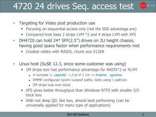 4720 24 drives Seq. access test