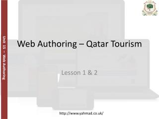 Web Authoring  – Qatar Tourism