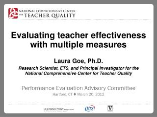 Evaluating teacher effectiveness with multiple measures