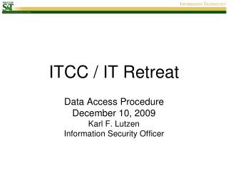 ITCC / IT Retreat
