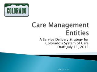 Care Management Entities