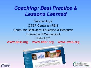 Coaching: Best Practice & Lessons Learned
