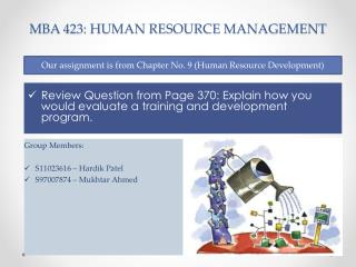 MBA 423: HUMAN RESOURCE MANAGEMENT