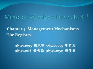Microsoft Windows Internals