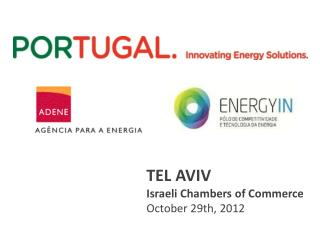 TEL AVIV Israeli Chambers of  Commerce October  29th, 2012
