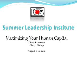 Summer Leadership Institute