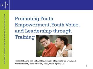 Promoting  Youth Empowerment, Youth Voice, and Leadership through Training