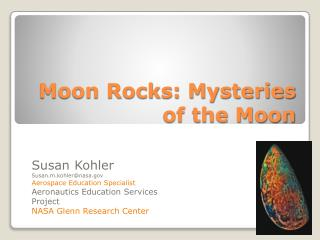 Moon Rocks: Mysteries of the Moon