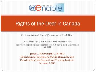 Rights of the Deaf in Canada