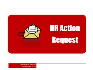 HR Action  Request