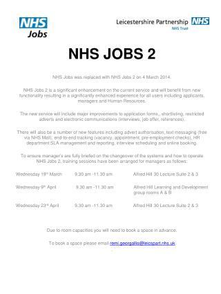NHS JOBS 2