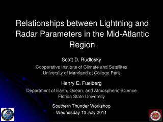 Relationships between Lightning and Radar Parameters in the Mid-Atlantic Region