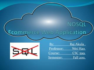 NOSQL  Ecommerce Web Application