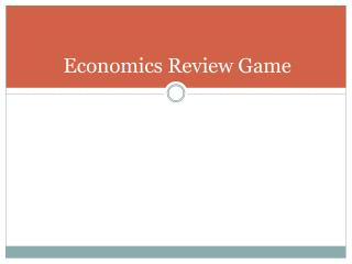 Economics Review Game