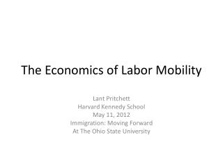 The Economics of Labor Mobility