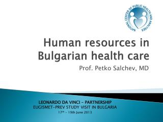 Human resources in Bulgarian health care