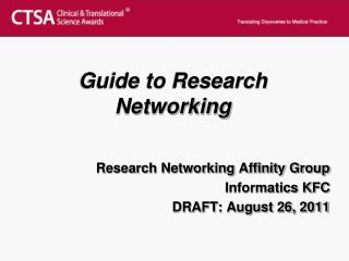 Guide to Research  Networking