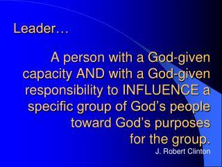 Leader…