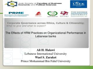 Corporate Governance across Ethics, Culture & Citizenship;  What to give and what to expect?