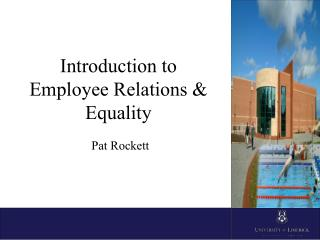Introduction to Employee Relations & Equality