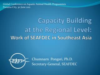 Capacity  Building  at  the  R egional  L evel : W ork  of SEAFDEC in Southeast Asia