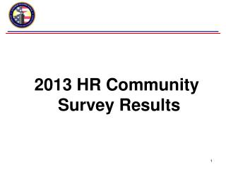 2013 HR Community  Survey Results