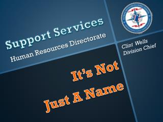 Support Services  Human Resources Directorate