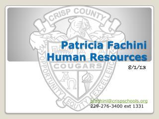 Patricia Fachini  Human Resources