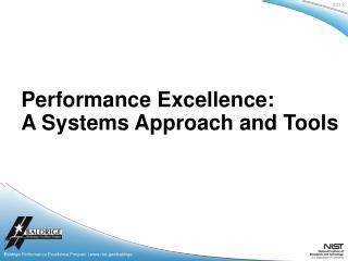 Baldrige Performance Excellence Program | www.nist.gov/baldrige