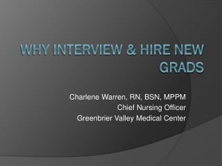 Why Interview & Hire New Grads