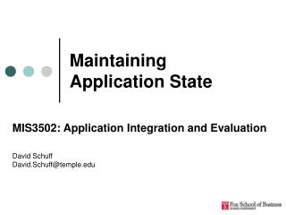 Maintaining Application State