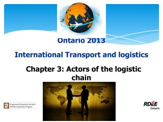 Ontario 2013 International Transport and logistics   Chapter 3: Actors of the logistic chain