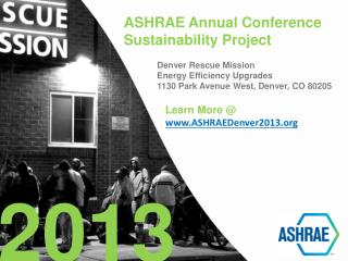 ASHRAE Annual Conference Sustainability Project